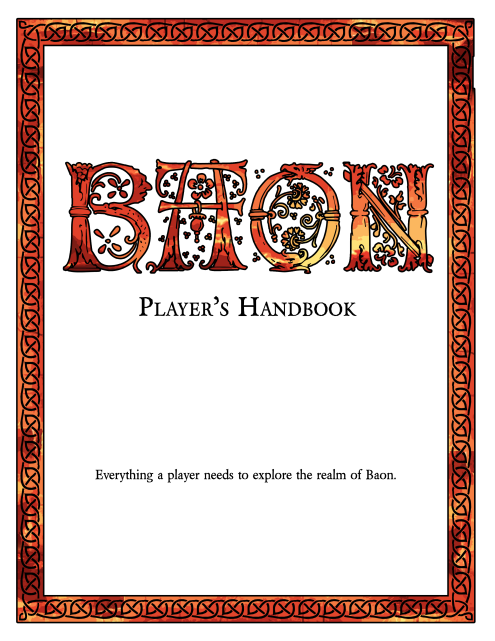 Realm of BAON: Players Handbook Cover